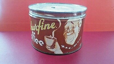 Shurfine 1 lb. vintage coffee tin one pound keywind can  nice graphics