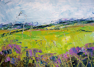Abstract Wild Flower Meadow. Floral / Landscape Art. Original Acrylic Painting.