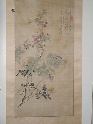 Beautiful Antique Chinese Hanging Scroll Painting
