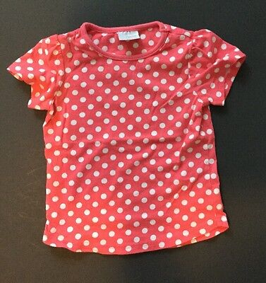 Beautiful Pink And White Polka Dot Top By NEXT EUC Size 2-3 Years
