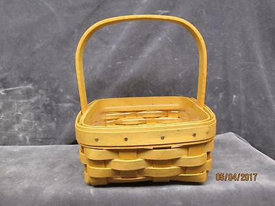 Longaberger Collection Basket With Handle And  Plastic Liner  Nos