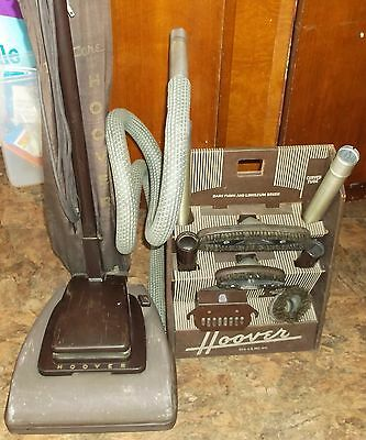 Vintage Hoover Model 61 Upright Vacuum Cleaner 1957 Yr Convertible