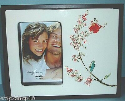 "Lenox Chirp Simply Fine 2-Sided Picture Frame 5x7""/4x6"" Floral Flip It New Boxed"