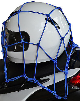 "Oxford Cargo Net Motorcycle Motorbike Elasticated Luggage Net 12x12"" Blue"
