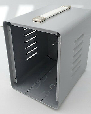 """Instrument enclosure 6""""x8""""x8"""" gray painted steel"""