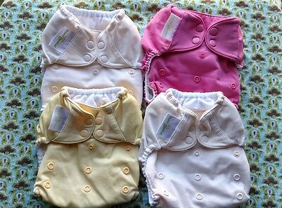 Bumgenius - Pocket Cloth Diaper - OS with Snaps - Lot of 4 plus 8 Inserts