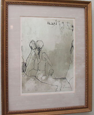 Jean Jansem Framed Lithograph..Signed in the Stone by the Artist....