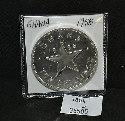West Point Coins ~ GHANA 1958 10 Shillings Proof - 11,000 Minted