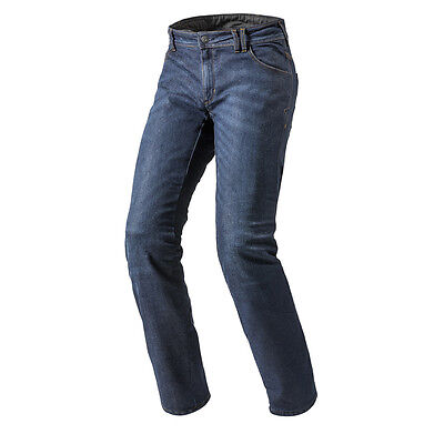 Rev'it! Rockefeller Motorcycle Cordura Denim Jeans Dark Blue Rev it Revit