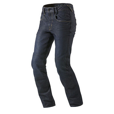 Rev'it! Lombard Motorcycle Cordura Denim Urban Jeans Dark Blue Rev it Revit