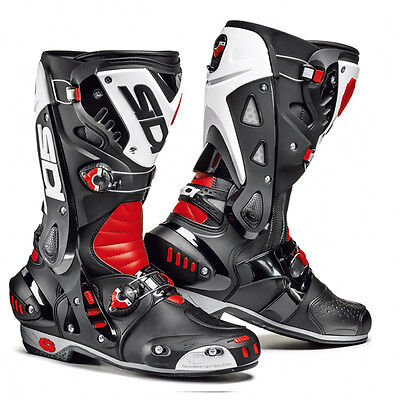 Sidi Vortice Black / Red / White Moto Motorcycle Microfibre Boots All Sizes