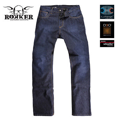 Rokker Revolution Blue Moto Motorcycle Motorbike Mens Denim Jeans All Sizes