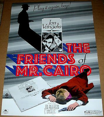 JON ANDERSON & VANGELIS Yes Friends Of Mr. Cairo Promo Poster Mint- 81 ORIGINAL!