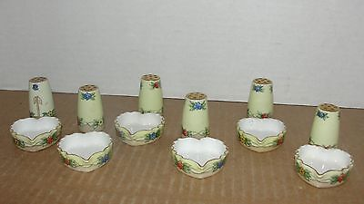 Vintage T & V Limoges France Individual Open Salt & Pepper Shakers