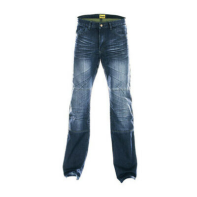 Draggin Drayko Drift Blue Motorcycle Hand Distressed Denim Jeans All Sizes