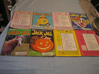 Lot Of 8 Vintage Jack And Jill Magazine 1966