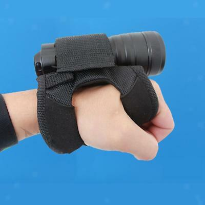 Hand Free Holder Portable Holster Glove for Scuba Diving Torch Flashlight