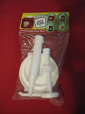 HEINZ EASY PUMP DISPENSER FOR 49oz - 114oz  KETCHUP MUSTARD SAUCE CONTAINERS