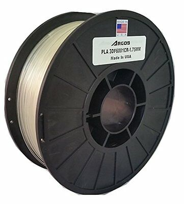 Argos 1.75mm PLA (Clear)(Natural) MADE IN THE USA : 3D Printer Filament