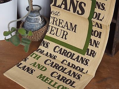 Vintage Linen Tea Towel - Carolans Finest Cream Liquer - Made in Ireland