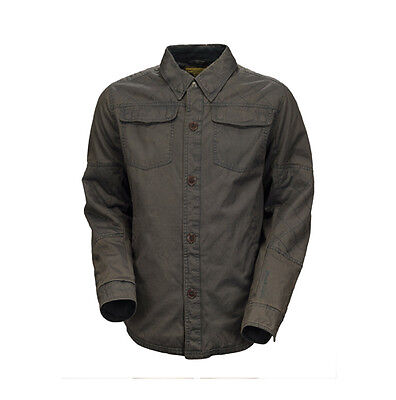 Roland Sands Design Chandler Charcoal Motorcycle Cotton Overshirt All Sizes