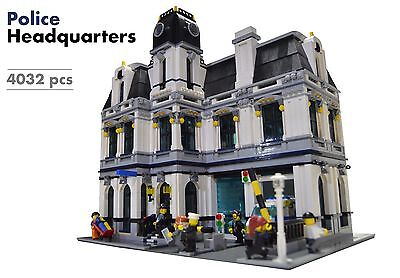 Lego Custom Modular Building [Police Headquarters] INSTRUCTIONS ONLY