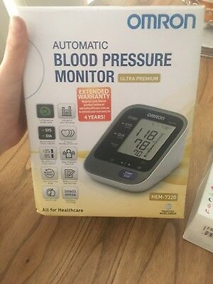 Brand New Omron HEM 7320 With Large Cuff Upper Arm BP Monitor - Free Shipping