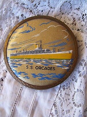 Vintage STRATTON COMPACT- S.S Orcades Ocean Liner.