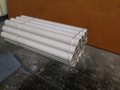 100x Cardboard Mailing Tubes ø50mm x 1.5 thick x 630mm includes end cap BULK BUY