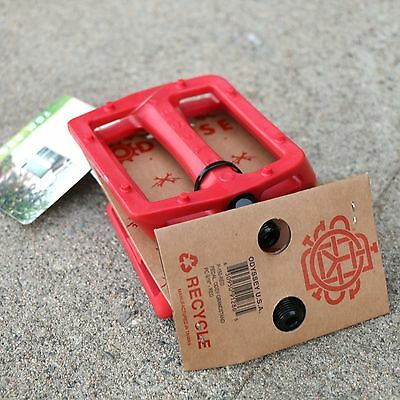 ODYSSEY BMX BIKE MONOGRAM TWISTED PRO PC BICYCLE PEDALS RED SUNDAY PRIMO CULT