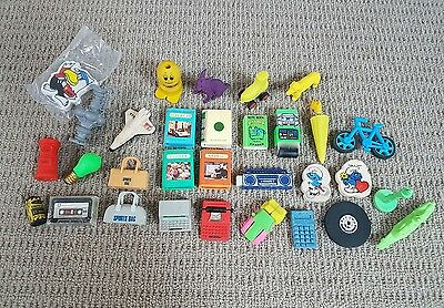 Assorted Collection of Erasers/Rubbers from the Mid 80's.
