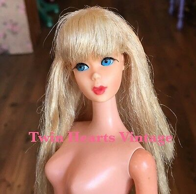 Vintage 60s TNT Twist N Turn Lt Pale Blonde Barbie Doll