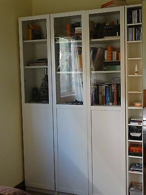 Ikea Billy Bookcase combination white with glassdoors