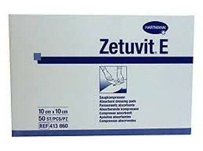 Zetuvit E Non-Sterile Absorbent Dressing Pads (Hartmann) 10cm x 10cm, Pack of 50