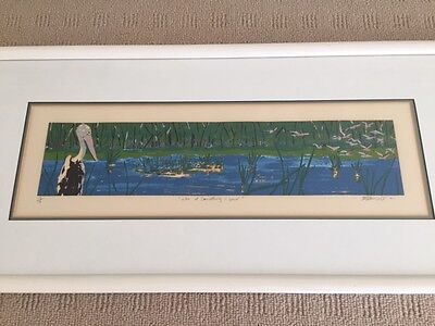 Framed Original 1991 Pelicans Print (Limited edition - 13 of 16)