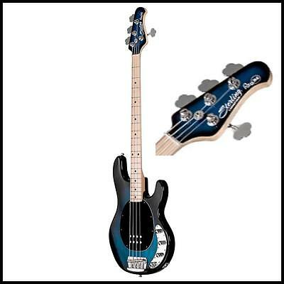 Sterling by Music Man RAY34 Electric Bass Guitar  Pacific Blue Burst Maple Board