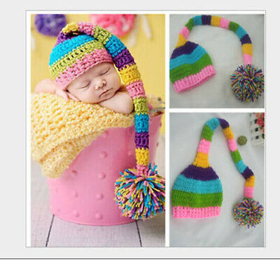 Newborn Baby Girls Boys Crochet Knit Costume Photo Photography Prop Outfits #2