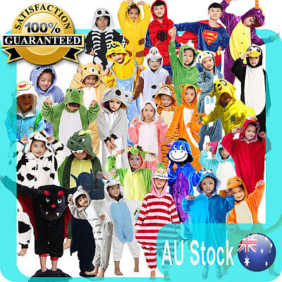 Unisex Kids jumpsuit Pajama Children's Animal Costume Kigurumi Fast Shipping AU