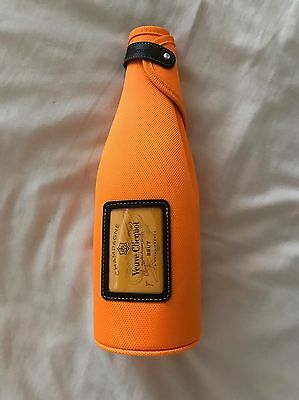 Veuve Clicquot Insulated Jacket Zip Orange With Brown Detailing Brand New