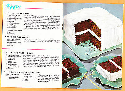 "1955 Kraft Oil Method, 20 Wonderful Cakes, ""Party Cake"" & other recipes, photos"