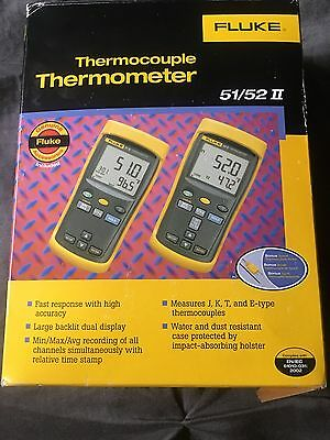 Fluke Thermocouple Thermometer 52 ll new in box, never used.