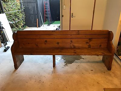 Antique Cedar & Pine Church Pew / Hall / Window / Feature / Bench Seat