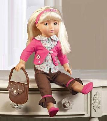 "18"" Fashion Blond Haired Play Doll with Soft Body & Closing Eyes New"