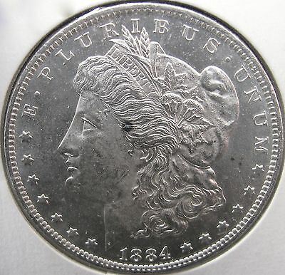 #2838 Raw MS++ Quality 1884-O Morgan Silver Dollar No Reserve!