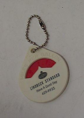Lindbeck Standard Oil Advertising Gas Mileage Calculator & Key Chain