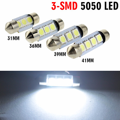 10X 31mm 36mm 39mm 41mm LED 5050 SMD White Lights Dome Festoon Reading Map Lamp