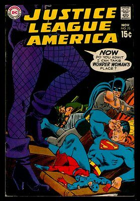 DC JUSTICE LEAGUE of AMERICA #75 Black Canary Joins The JLA FN+/FN//VFN 6.5-7.0