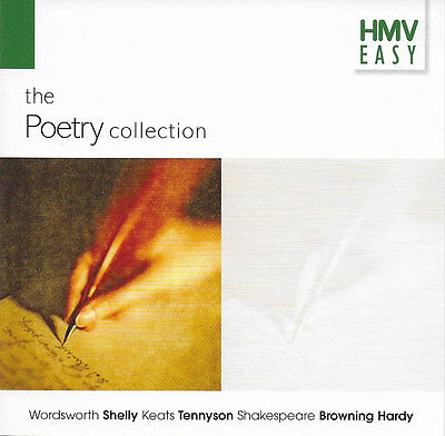 The POETRY COLLECTION Wordsworth Keats Tennyson Shelly Shakespeare etc CD Audio