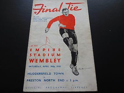 1938 FA Cup Final  -  Preston North End  v  Huddersfield Town