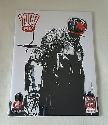 2000AD Magazine 40th Anniversary Special Forbidden Planet Jock Variant SIGNED